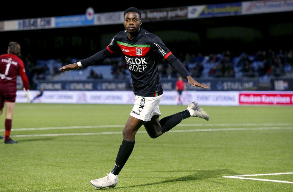 Anthony Musaba steht derzeit bei NEC Nijmegen unter Vertrag. Foto: imago images/Pro Shots