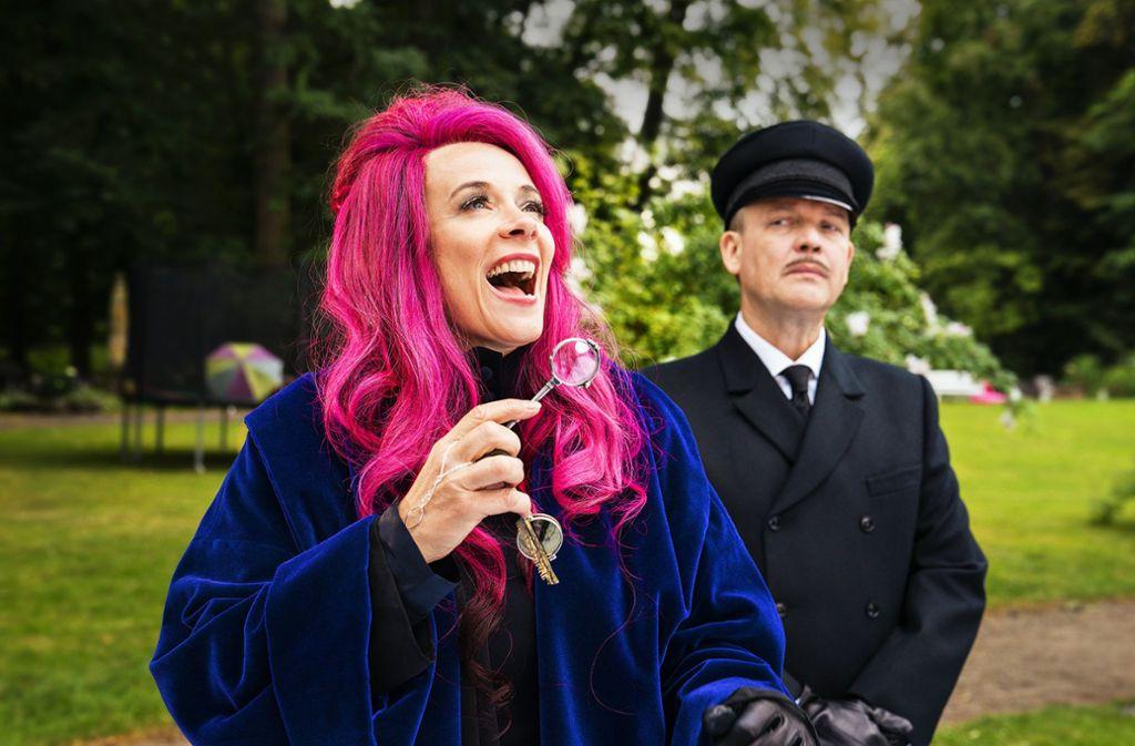 Katja Rieman als böse Magierin mit   Justus von Dohnányi . Foto: Buena Vista//Marco Nagel