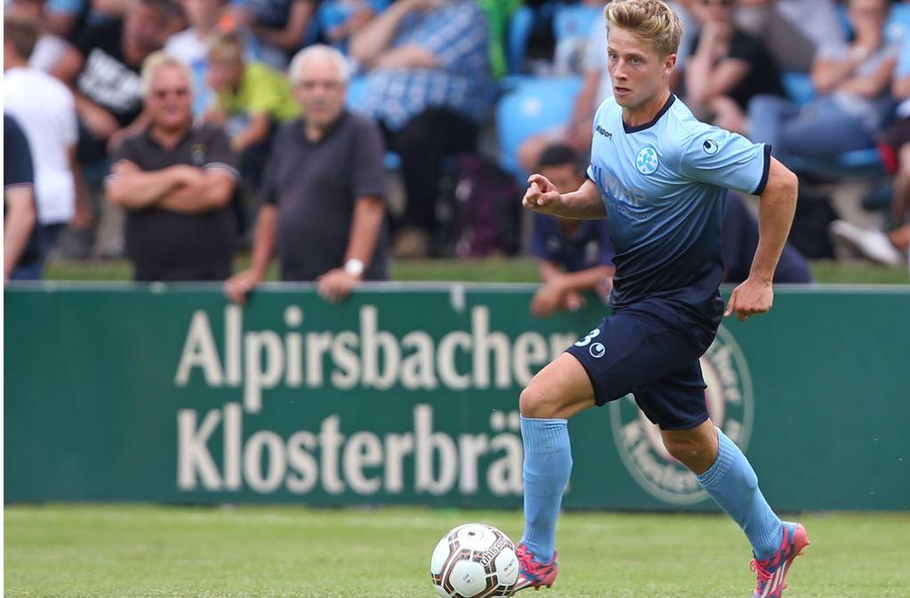 Der Linksverteidiger Lukas Scepanik kam vom 1. FC Köln II zu den Kickers. Foto: Baumann