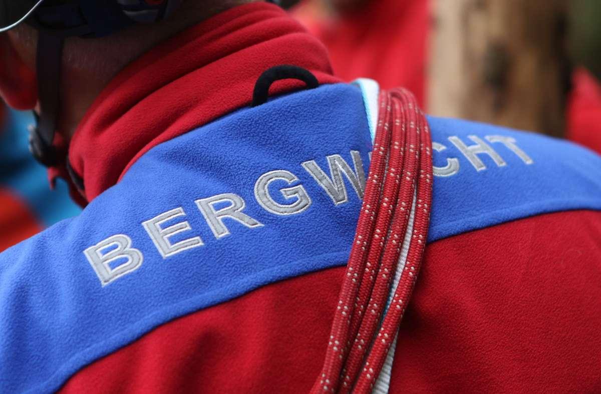 Der Bergwacht gelang es, den Mann zu retten. Foto: dpa/Matthias Bein