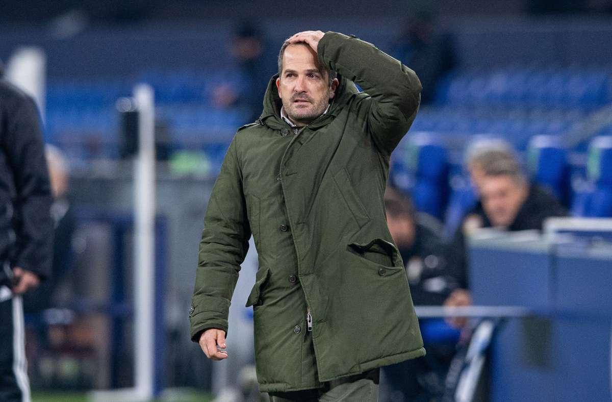 Manuel Baum war seit ende September 2020 Trainer der Bundesligamannschaft FC Schalke 04. (Archivbild) Foto: dpa/Guido Kirchner