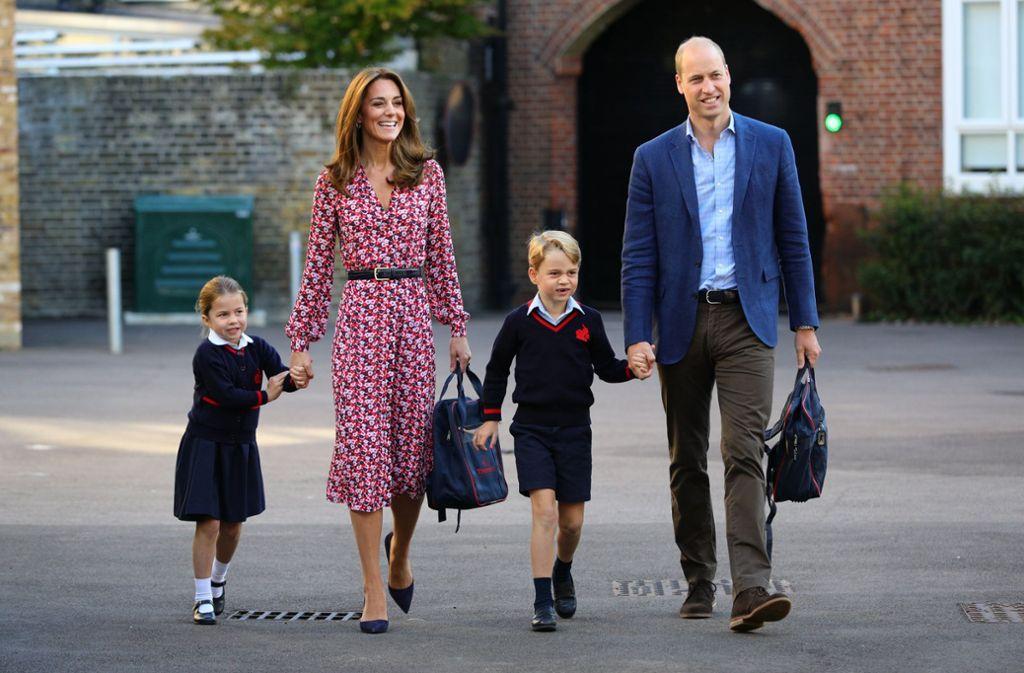 """Seit vergangenem September geht  Prinzessin Charlotte – wie ihr Bruder George – auf die """"Thomas's Battersea""""-Schule im Süden Londons. Foto: dpa/Aaron Chown"""