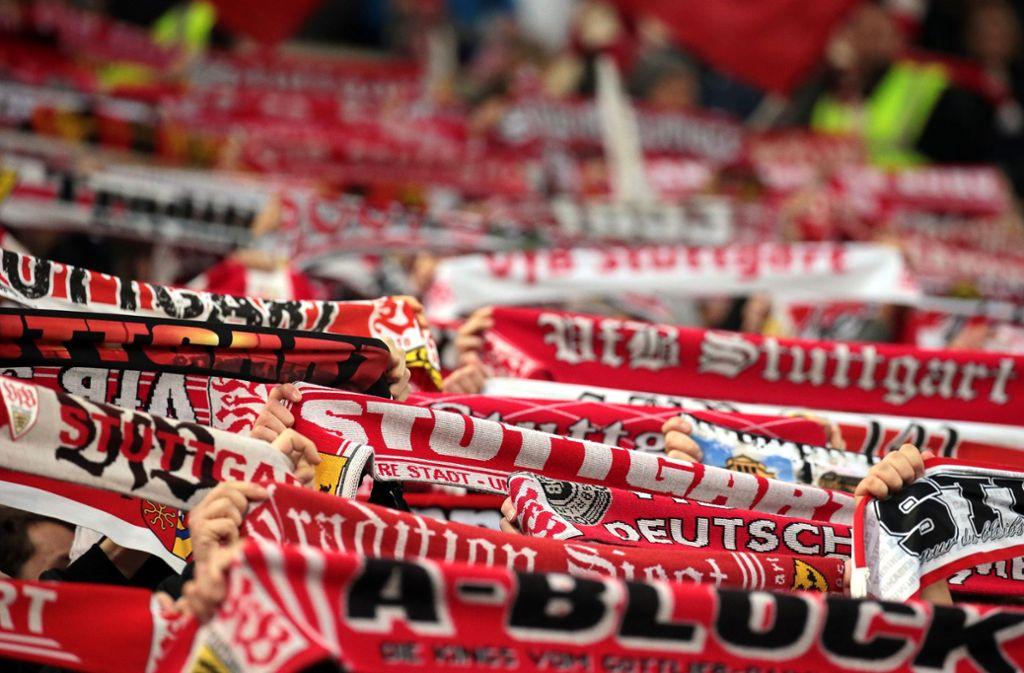Kein organisierter Support zu Beginn des Spiels Eintracht Frankfurt gegen den VfB Stuttgart im Gästeblock (Archivbild). Foto: Pressefoto Baumann