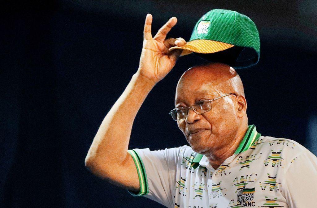 Behutsam soll Jacob Zuma gedrängt worden sein, seinen Hut zu nehmen. Foto: AP