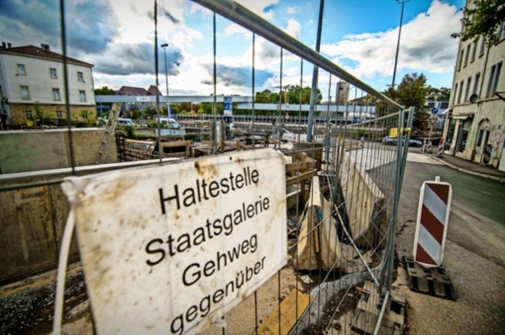 Der Zugang zur Haltestelle Staatsgalerie wird verlegt. Foto: Lichtgut/Max Kovalenko