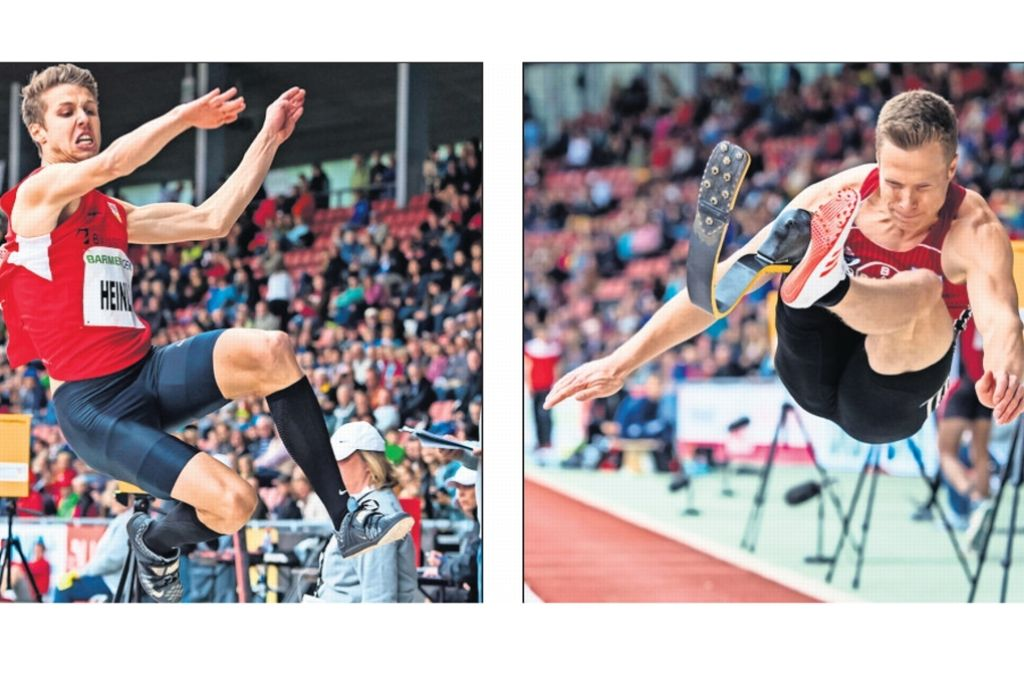 Fabian Heinle (li.) und Markus Rehm: Auf dem Sprung nach Rio? Foto: dpa