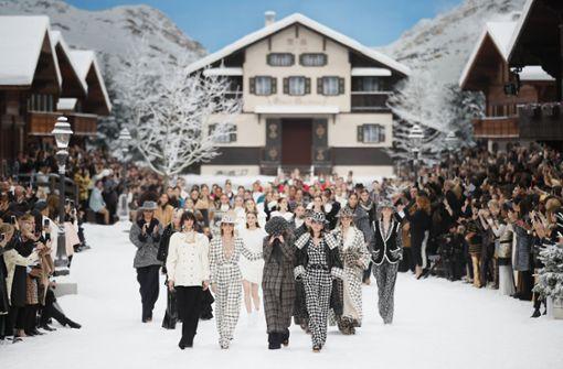 Ein letztes Mal mit Karl Lagerfeld im Schnee