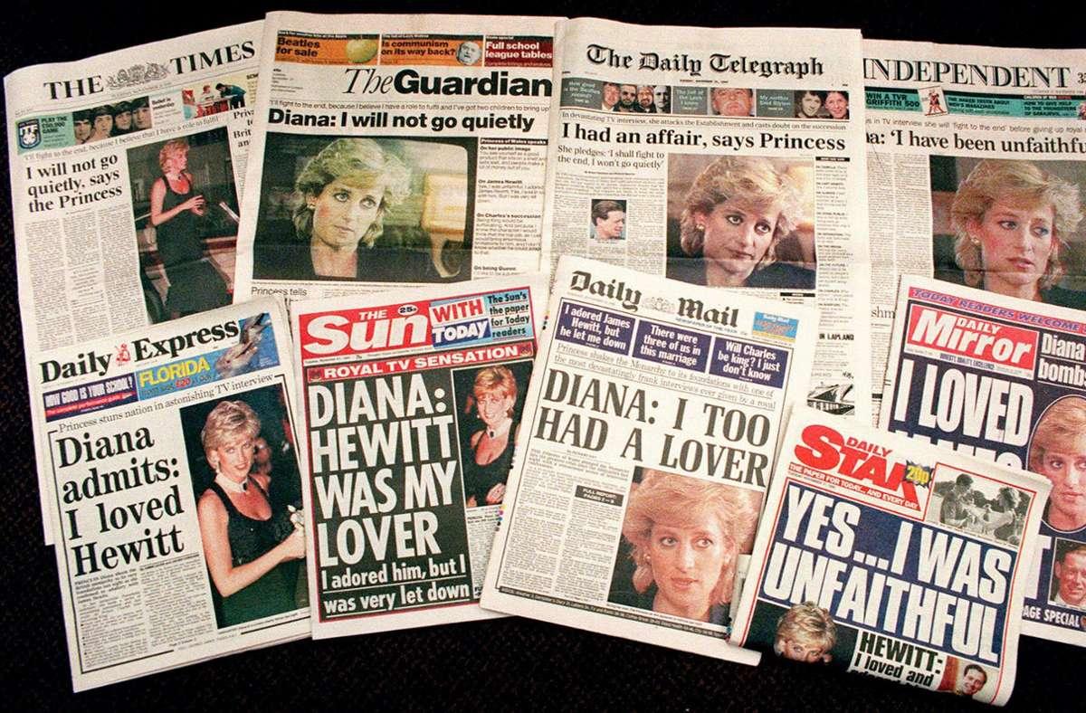 Die BBC hatte für das legendäre Diana-Interview offenbar gefälschte Dokumente eingesetzt. (Archivbild) Foto: dpa/Martin Cleaver