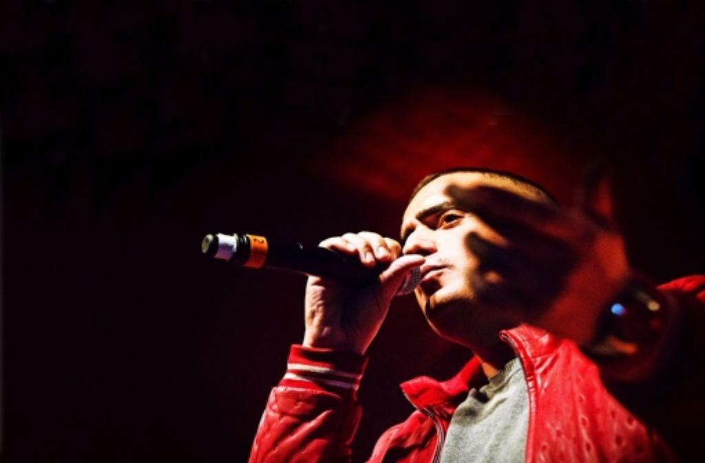 Haftbefehl im LKA: einer der beliebtesten Gangsta-Rapper beim Stuttgart-Konzert am Mittwoch. Foto: