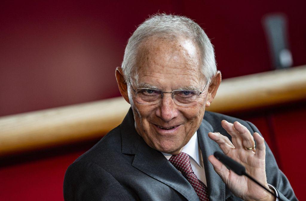 Bundestagspräsident Wolfgang Schäuble Foto: dpa/Paul Zinken