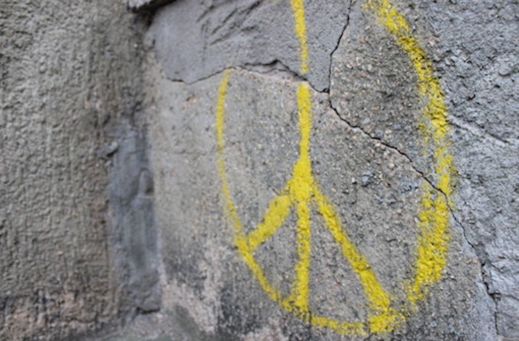 Eine Unzufriedenheit, die die extremen Wahlergebnisse erklären würde, spürt man in Münster nicht. Sogar die wenigen Graffiti an den Hauswänden sind friedfertig. In der Fotostrecke zeigen wir einige Eindrücke aus Münster. Foto: Rebecca Beiter