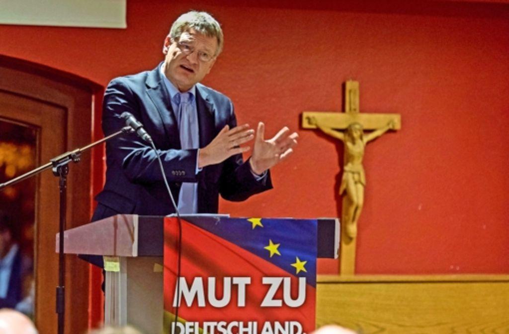 Besonders erfolgreich in protestantischen Gegenden? Backnangs OB Frank Nopper hält das für einen Grund, warum der AfD-Kandidat Jörg Meuthen (Foto) oft gewählt wurde. Foto: dpa