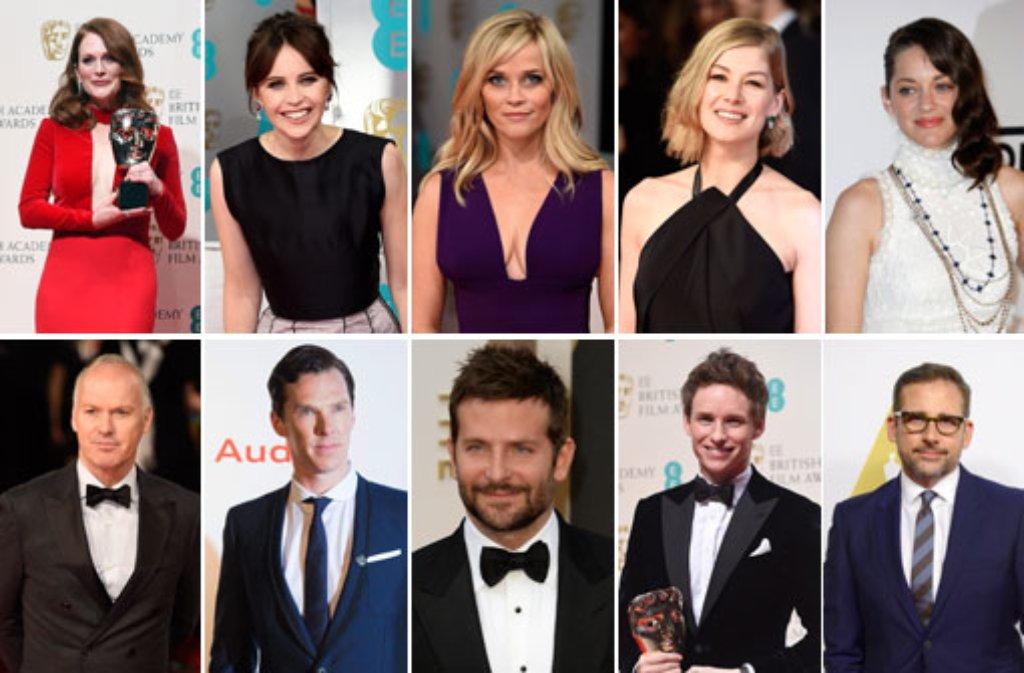 Jeweils fünf weibliche und fünf männliche Stars sind für den Oscar in der Kategorie Beste Hauptdarsteller nominiert. Wir schätzen ihre Chancen ein ... Foto: dpa