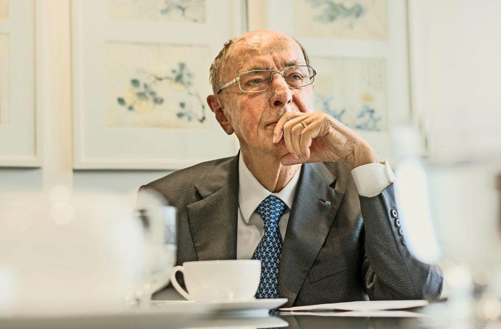 Der Trumpf-Patriarch Berthold Leibinger blickt über den Tellerrand seiner Profession hinaus. Foto: factum/Weise