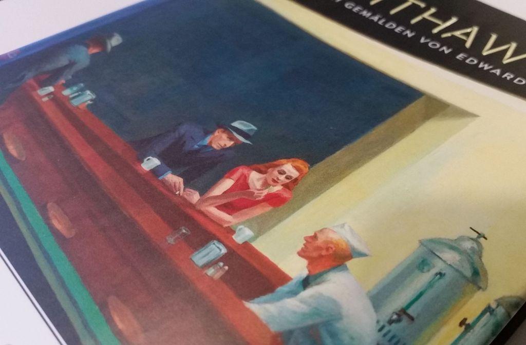 Dieses  Bild kennt jeder – aber was für eine Geschichte  könnte sich hinter Hoppers Nighthawks verbergen? Foto: Hans Jörg Wangner