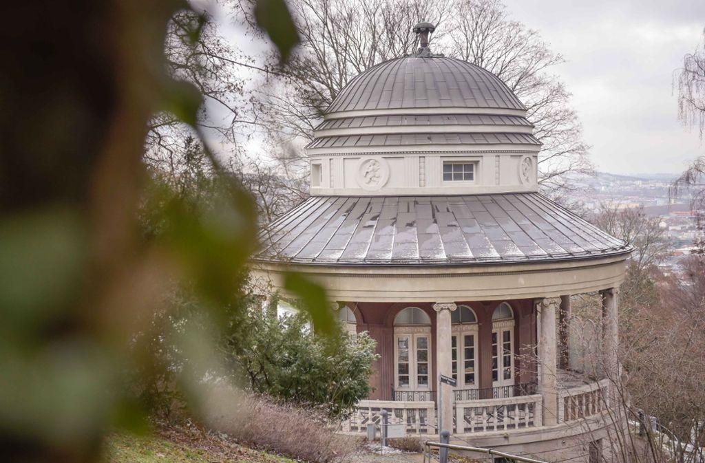 Das Teehaus im Weißenburgpark bedarf einer dringenden Renovierung Foto: Lichtgut/Max Kovalenko