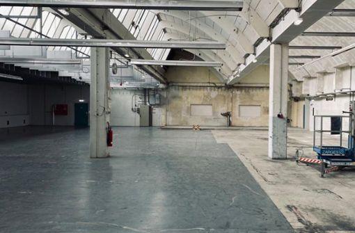 Knallige Kunst für  die alte Rotationshalle