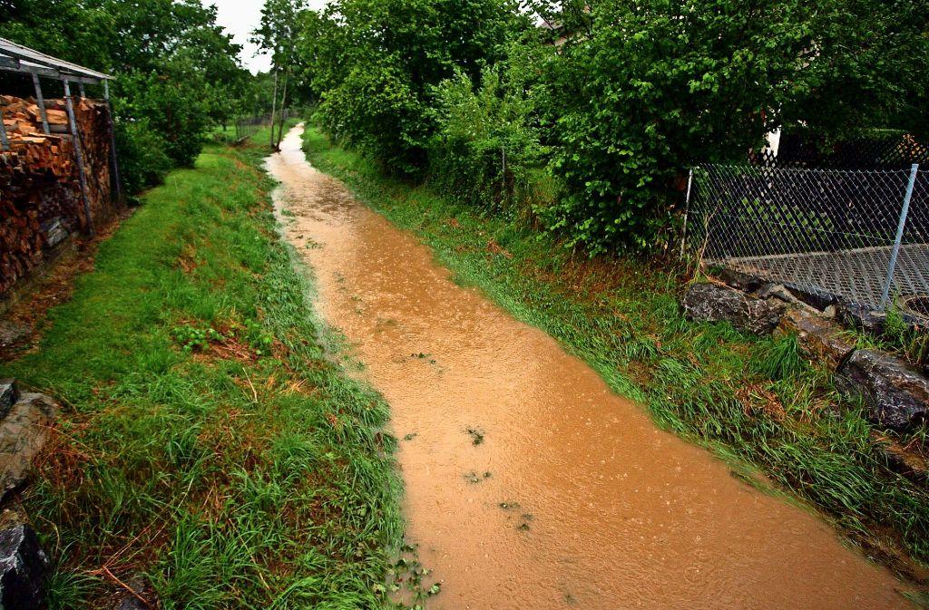 Der Kotzenbach soll auch das Regenwasser von Lailberg II aufnehmen. Foto: Gorr