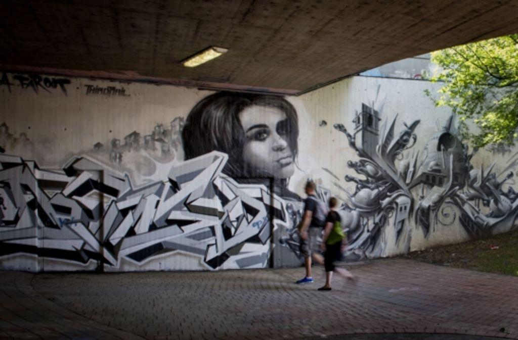 Die Hall of Fame – Graffiti wird hier zu Kunst. Foto: Martin Stollberg