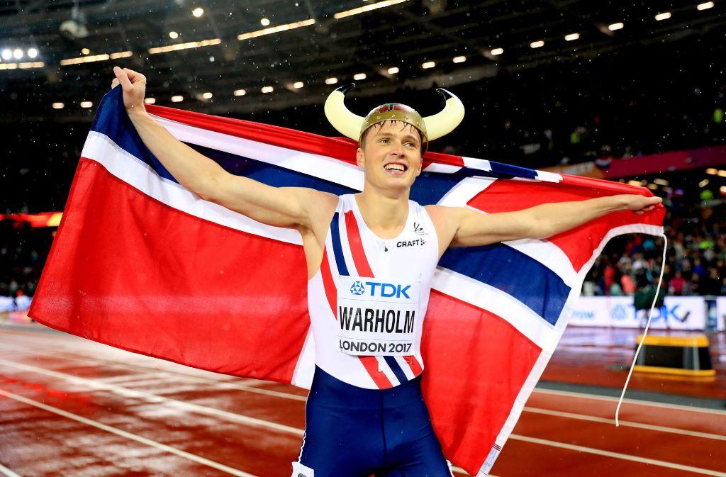 Karsten Warholm holt für Norwegen das erste WM-Gold auf der Laufbahn seit 30 Jahren. Foto: dpa