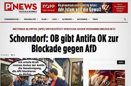 Rechte hetzen gegen Schorndorfer OB