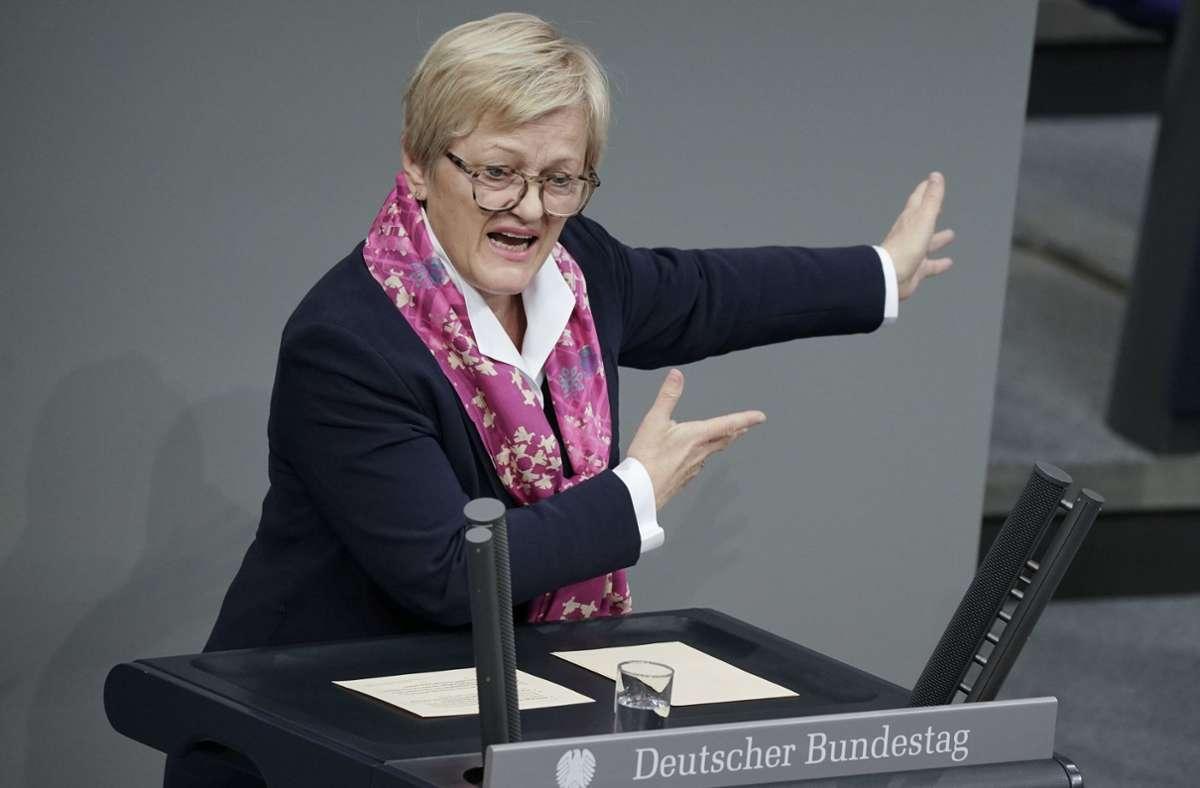 Renate Künast (Bündnis90/Die Grünen). (Archivbild) Foto: dpa/Michael Kappeler