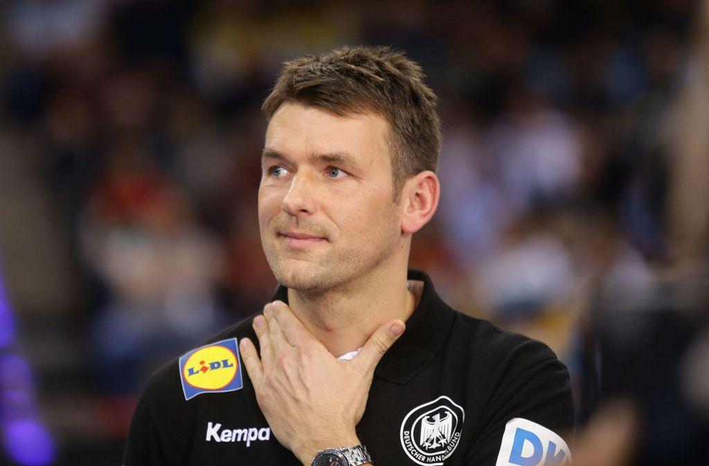 Handballbundestrainer Christian Prokop hat seinen vorläufigen EM-Kader bekannt gegeben, der bisher noch aus 28 Spielern besteht. Foto: Pressefoto Baumann/Hansjürgen Britsch