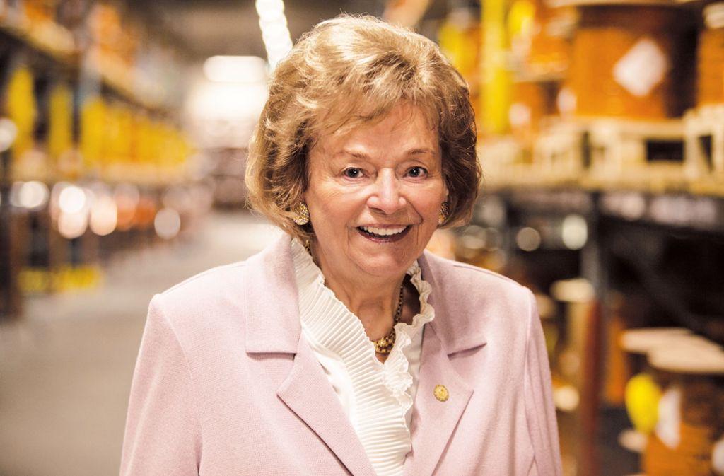 Ursula Ida Lapp hat als Gründerin des Stuttgarter Kabel-Spezialisten mehr als sechs Jahrzehnte die Wirtschaft beeinflusst. Am Samstag wird sie 90 Jahre alt. Foto: dpa/Frederik Laux