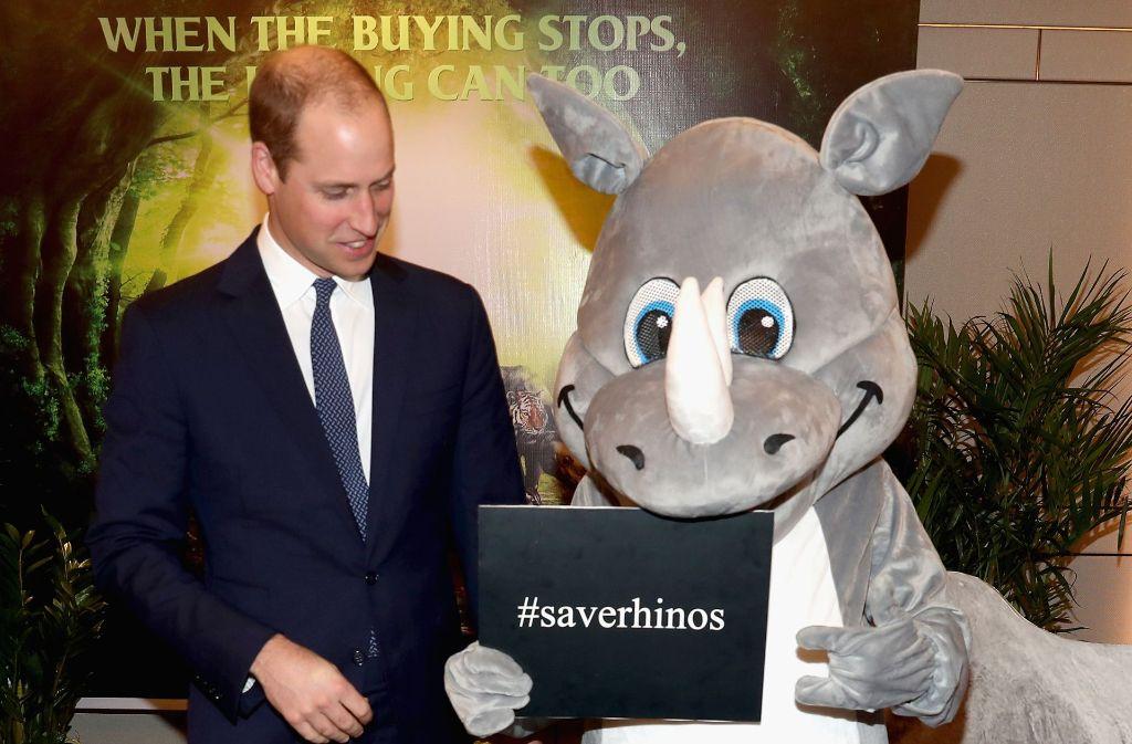 Prinz William setzt sich in Vietnam für den Tierschutz ein. Foto: Getty Images