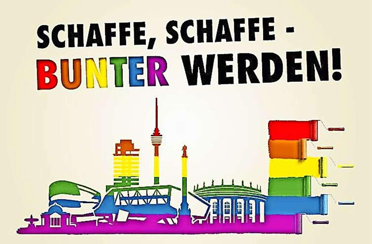 Stuttgart soll noch bunter werden. Dies wünschen sich die Organisatoren des CSD, die jetzt das  Motto und die Plakate für dieses Jahr vorgestellt haben. Foto: CSD