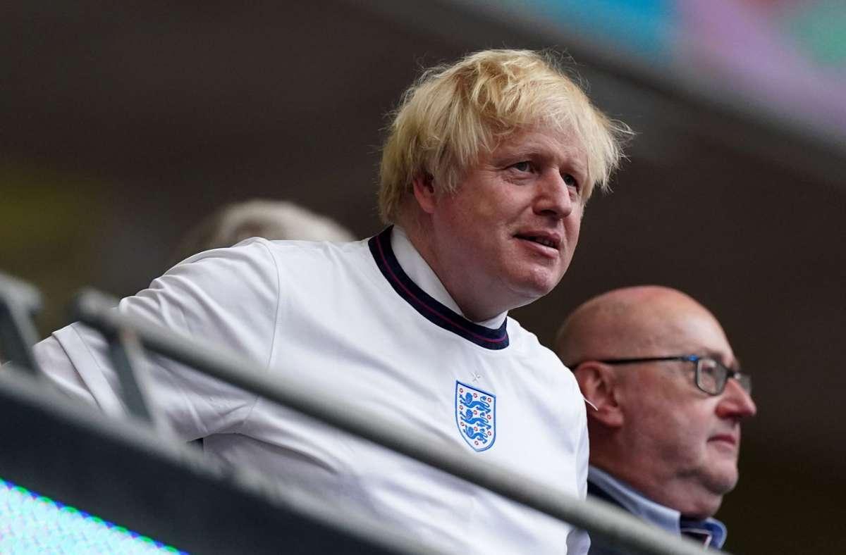 Premierminister Boris Johnson im Wembley Stadion. Foto: dpa/Mike Egerton