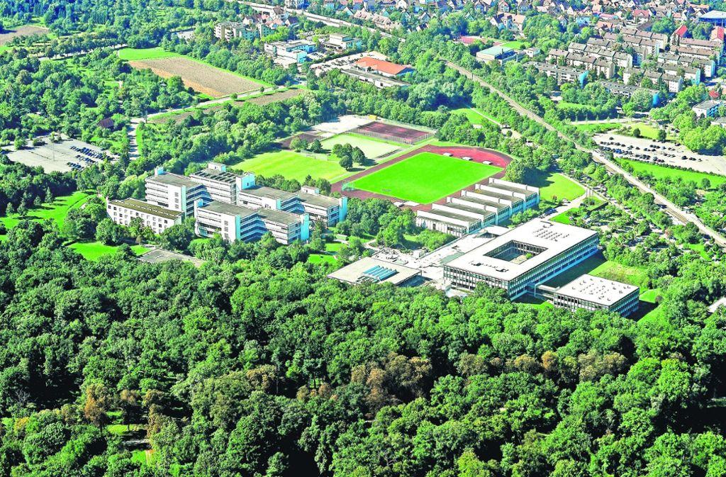 Großes Ausbauprogramm: Die Pädagogische Hochschule erhält eine neue Sporthalle sowie mehrere Seminargebäude. Auch die Beamtenhochschule wird erweitert, dazu kommen zwei neue Parkhäuser nahe der S-Bahnstadtion Favoritepark. Foto: Werner Kuhnle