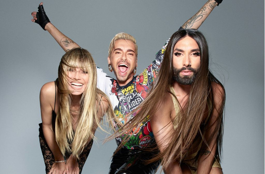 Klum, Kaulitz und Wurst sollen die neue Show moderieren. Foto: dpa/ProSieben