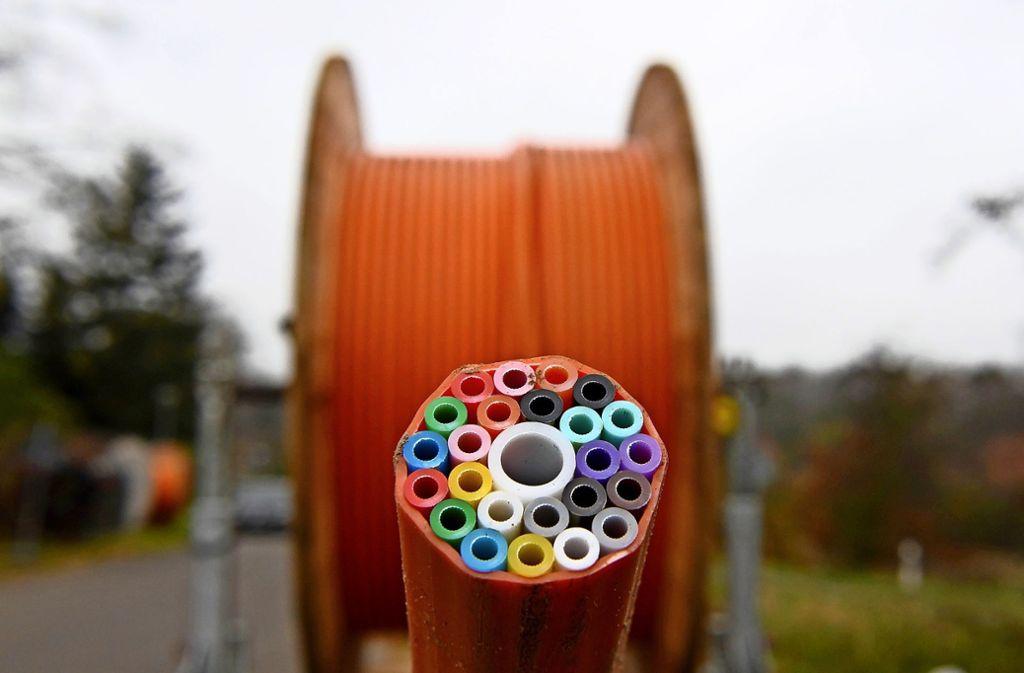 Auch in Fellbach nötig: Kabeltrommel mit Leitungen für Breitband-Anschlüsse Foto: dpa