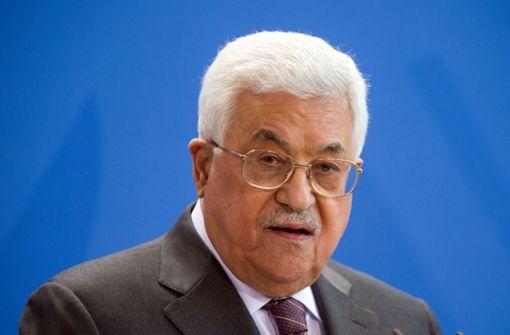 Palästinenserpräsident Mahmud Abbas entschuldigt sich