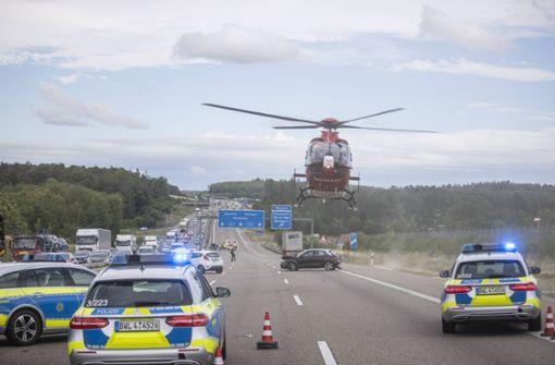 A8 nach zwei Unfällen stundenlang gesperrt