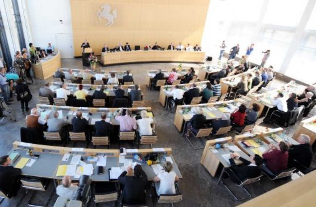 Stadträte im Stuttgarter Rathaus Foto: dpa