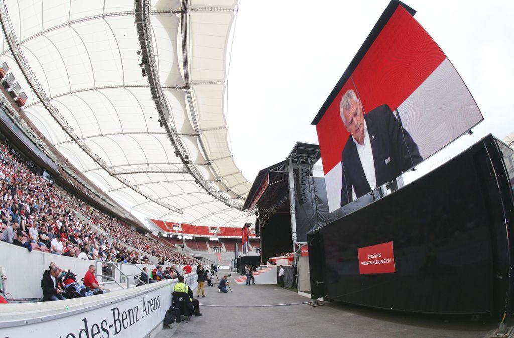 Die Mitgliederversammlung des VfB Stuttgart fand in der Mercedes-Benz-Arena statt. Foto: Pressefoto Baumann