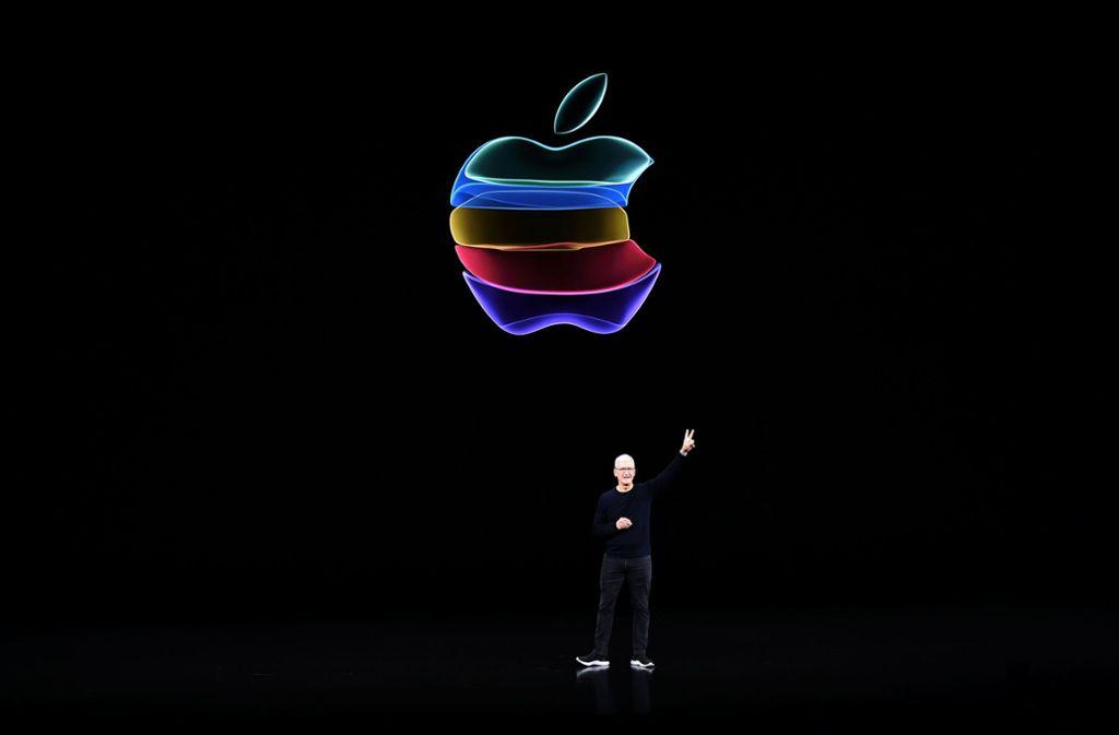 Apple um CEO Tim Cook streitet sich vor Gericht mit der EU-Kommission. Foto: AFP/JOSH EDELSON