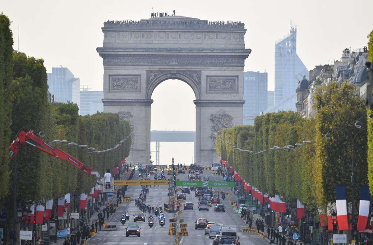 Le Tour de France a pris fin ce week-end à Paris - au milieu de la pandémie corona.  Photo: dpa / David Stockman