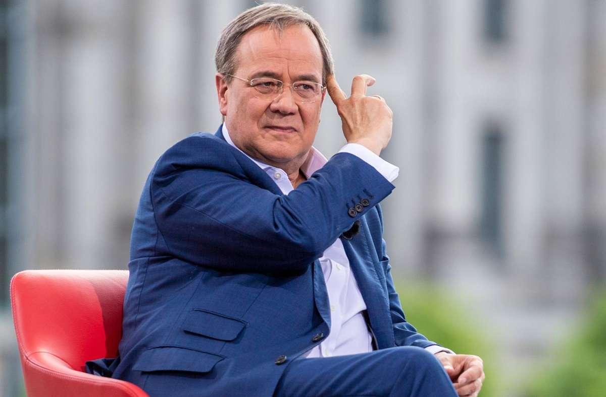 Armin Laschet von der CDU will der nächste Kanzler werden. Foto: dpa/Christophe Gateau