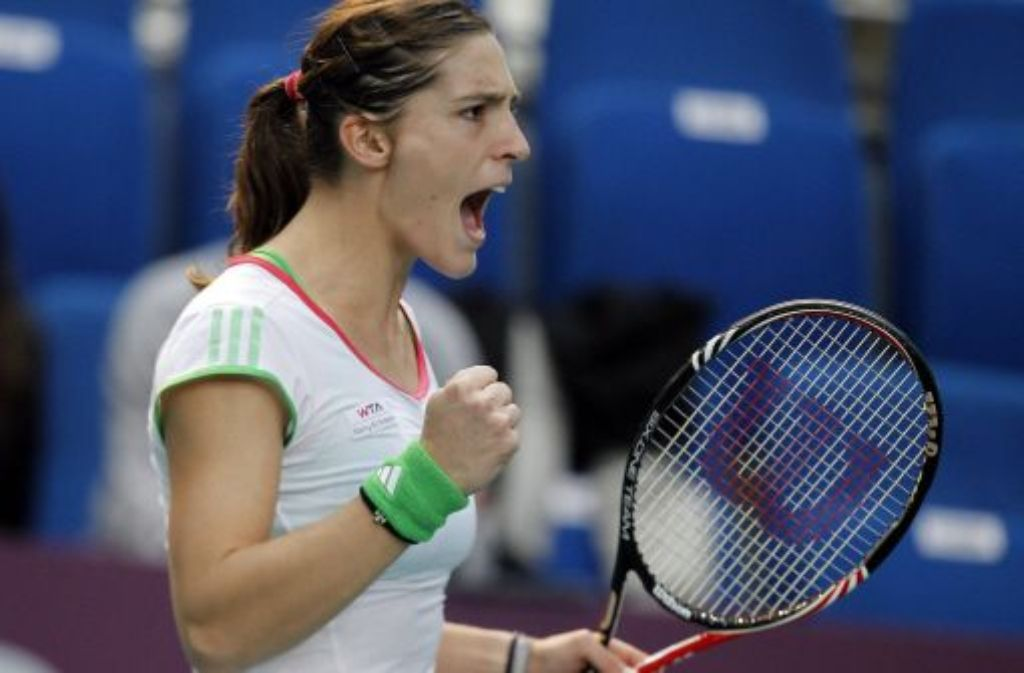 Mit vollem Einsatz auf dem Weg nach oben: Andrea Petkovic will das deutsche Tennis wieder in den Blickpunkt rücken. Foto: dpa