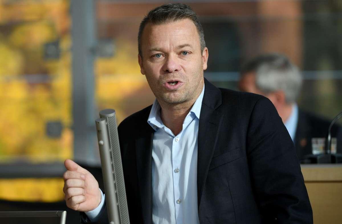 Landtagsabgeordnete Frank Brodehl verlässt die AfD. Foto: dpa/Carsten Rehder