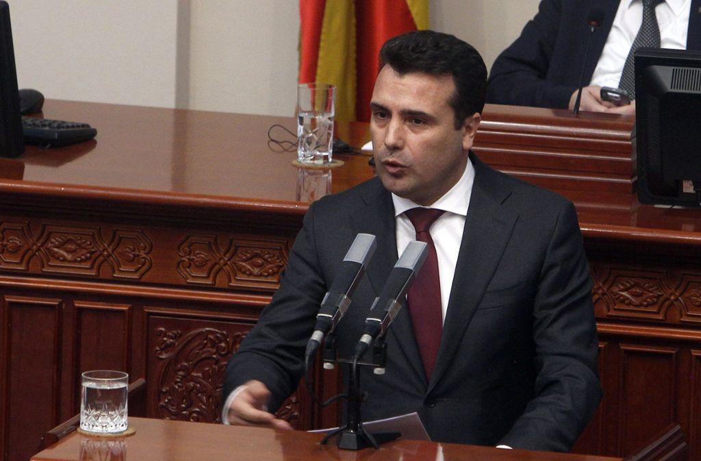 Der mazedonische Ministerpräsident Zoran Zaev Foto: AP