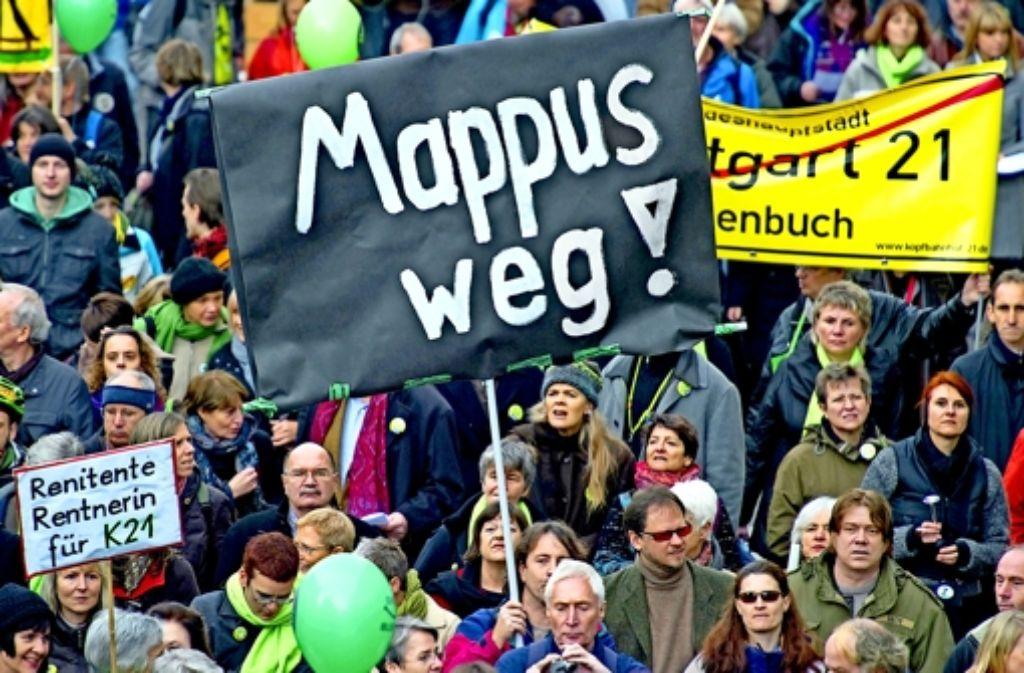 Stefan Mappus war eine Reizfigur für die  S-21-Domenstranten Foto: dpa