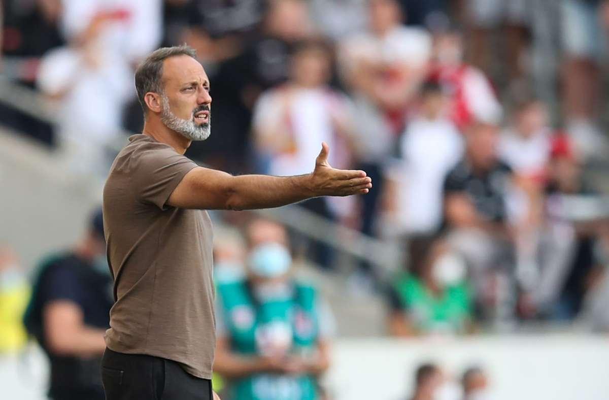 Der Trainer gibt vor dem Spiel in Bochum die Richtung vor: Pellegrino Matarazzo will eine energiegeladene Elf des VfB Stuttgart sehen. Foto: dpa/Tom Weller