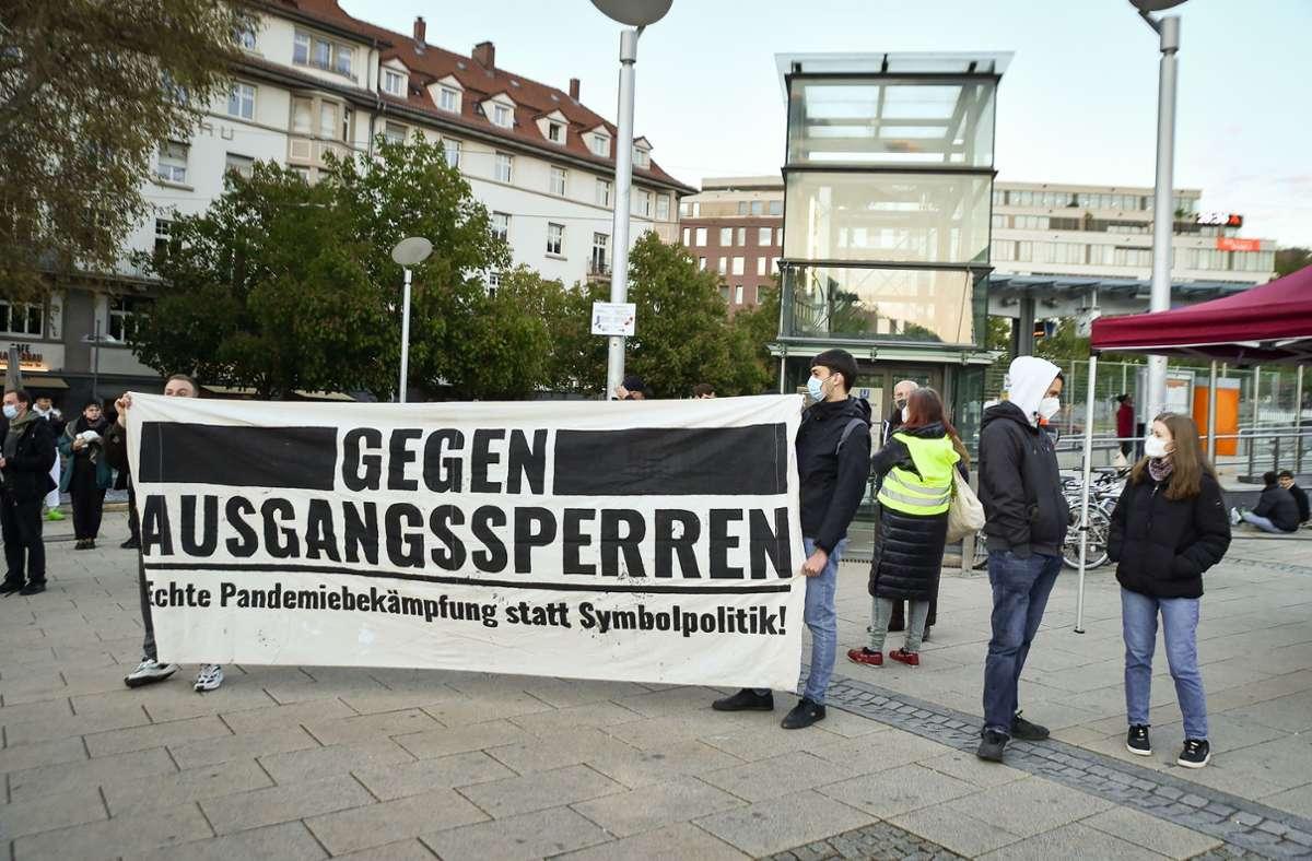 Auf  dem Marienplatz   gegen die Corona-Politik. Foto: Lichtgut/Ferdinando Iannone
