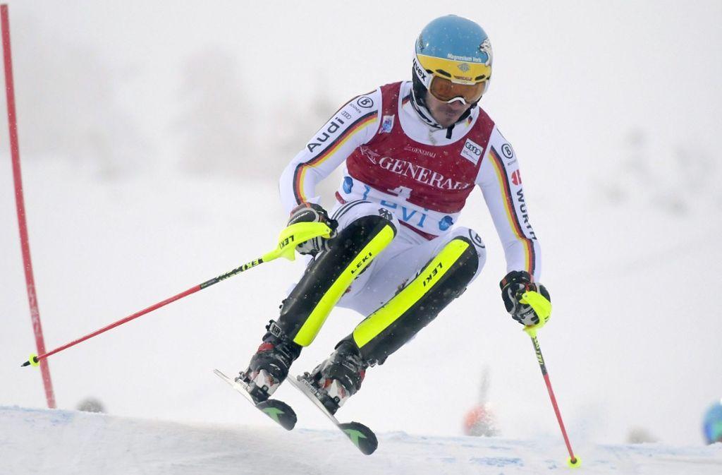 Im vergangenen jahr hat Felix Neureuther in Levi den Slalom gewonnen, nun ist unklar, ob er hier am Sonntag sein Comeback feiern kann. Foto: dpa