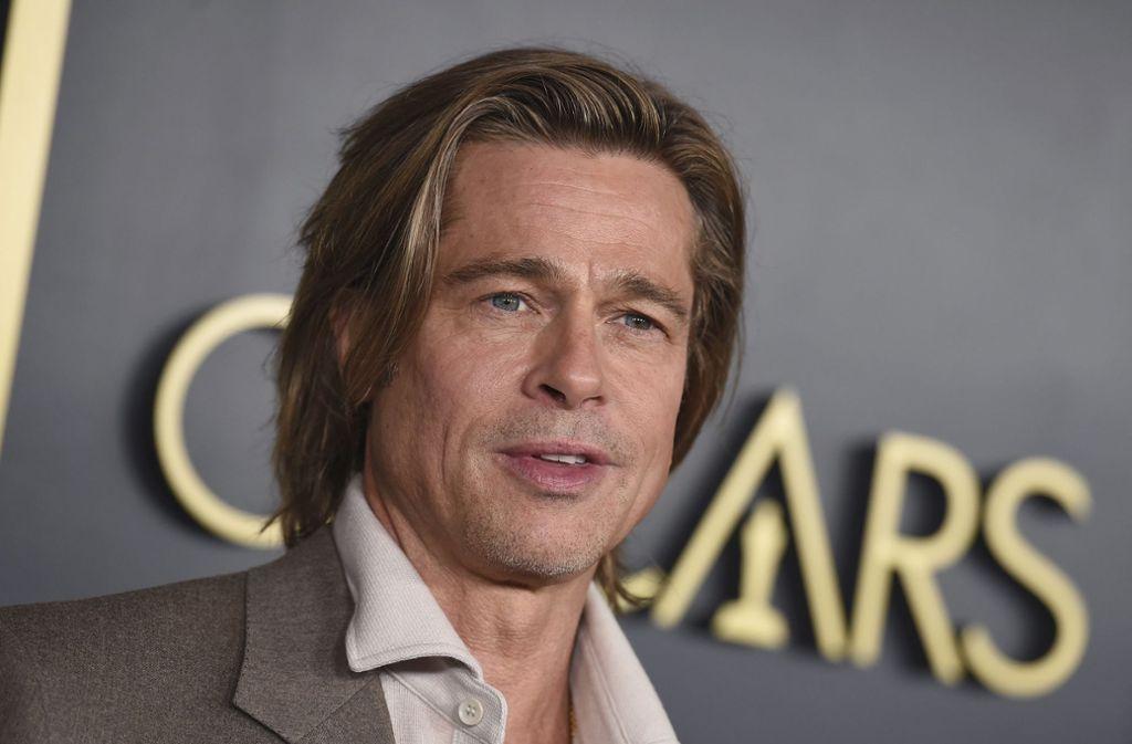 Brad Pitt hofft im fünften Anlauf auf seinen ersten Darsteller-Oscar. Foto: dpa/Jordan Strauss