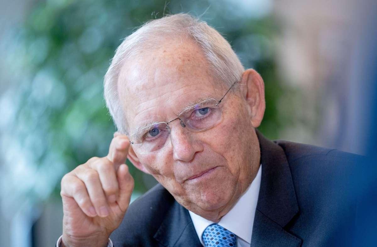 Bundestagspräsident Wolfgang Schäuble (Archivbild) Foto: dpa/Kay Nietfeld